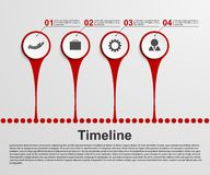 Concepto de la cronología de Infographics Fotografía de archivo