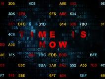 Concepto de la cronología: El tiempo ahora está en Digitaces Imagen de archivo