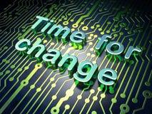 Concepto de la cronología: Hora para el cambio en placa de circuito stock de ilustración