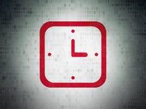 Concepto de la cronología: Reloj en fondo del papel de datos de Digitaces libre illustration