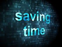 Concepto de la cronología: Tiempo del ahorro en digital stock de ilustración