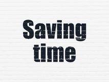 Concepto de la cronología: Tiempo del ahorro en fondo de la pared libre illustration