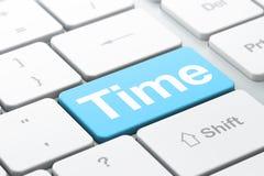 Concepto de la cronología: Tiempo en el teclado de ordenador stock de ilustración