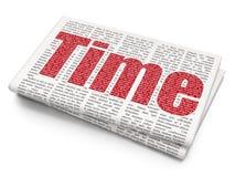 Concepto de la cronología: Tiempo en fondo del periódico libre illustration