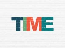 Concepto de la cronología: Tiempo en fondo de la pared libre illustration