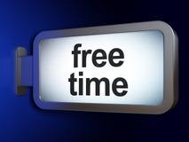 Concepto de la cronología: Tiempo libre en fondo de la cartelera stock de ilustración