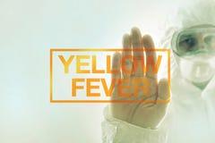 Concepto de la cuarentena de la fiebre amarilla fotos de archivo