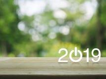 Concepto de la cubierta de la Feliz Año Nuevo 2019 imagenes de archivo
