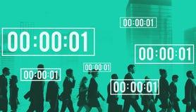 Concepto de la cuenta descendiente de la duración de la gestión del cronómetro del curso de la vida imagenes de archivo