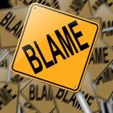 Concepto de la culpa. ilustración del vector