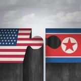 Concepto de la cumbre de Corea del Norte Estados Unidos ilustración del vector