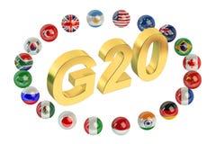 Concepto de la cumbre G20 libre illustration