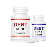 Concepto de la curación de la deuda. Imagen de archivo libre de regalías
