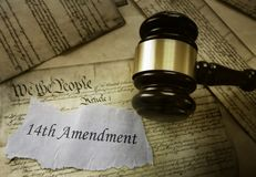 Concepto de la decimocuarta enmienda foto de archivo libre de regalías