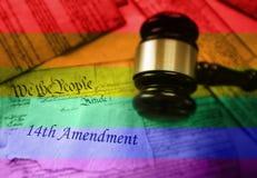 Concepto de la decimocuarta enmienda LGBT foto de archivo libre de regalías