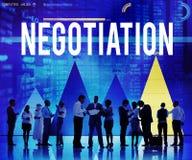 Concepto de la decisión del acuerdo de contrato del compromiso de la negociación imagen de archivo libre de regalías