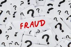 Concepto de la definición del fraude Imagen de archivo libre de regalías