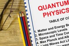 Concepto de la definición de la física cuántica imagen de archivo libre de regalías