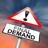 Concepto de la demanda final. Foto de archivo libre de regalías