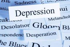 Concepto de la depresión Fotografía de archivo