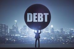 Concepto de la deuda Imágenes de archivo libres de regalías