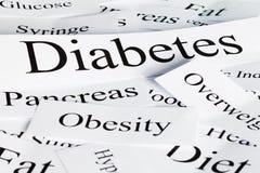 Concepto de la diabetes Fotografía de archivo libre de regalías