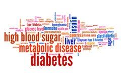 Concepto de la diabetes Imagenes de archivo