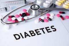 Concepto de la diabetes Foto de archivo libre de regalías