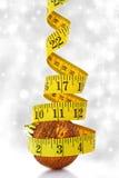Concepto de la dieta de la Navidad Imagen de archivo libre de regalías