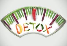 Concepto de la dieta del Detox fotos de archivo