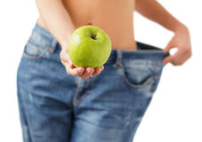 Concepto de la dieta sana y de la pérdida de peso Imagenes de archivo