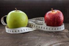 Concepto de la dieta y de la salud Imágenes de archivo libres de regalías