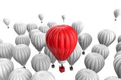 Concepto de la dirección con el balón de aire candente libre illustration