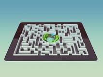 Concepto de la dirección de Maze Strategy Success Solution Determination Fotografía de archivo libre de regalías