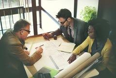 Concepto de la discusión de Design Project Meeting del arquitecto fotografía de archivo libre de regalías
