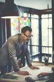 Concepto de la discusión de Design Project Meeting del arquitecto foto de archivo libre de regalías