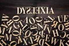 Concepto de la dislexia Fotografía de archivo libre de regalías