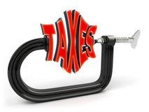 Concepto de la disminución del impuesto Foto de archivo libre de regalías