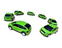 Concepto de la distribución de coche Foto de archivo libre de regalías