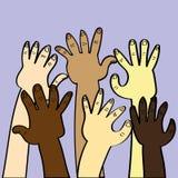 Concepto de la diversidad étnica ilustración del vector