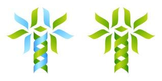 Concepto de la DNA del árbol del icono stock de ilustración