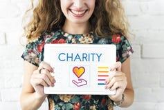 Concepto de la donación de la caridad de la parte de comunidad foto de archivo
