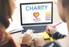 Concepto de la donación de la caridad de la parte de comunidad fotografía de archivo