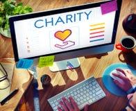 Concepto de la donación de la caridad de la parte de comunidad imagen de archivo libre de regalías