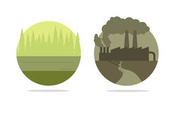 Concepto de la ecología del vector Imagen de archivo