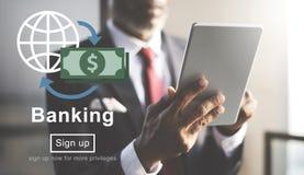 Concepto de la economía de las finanzas de la cuenta del negocio bancario imagen de archivo libre de regalías