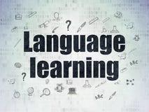 Concepto de la educación: Aprendizaje de idiomas en Digitaces Imágenes de archivo libres de regalías