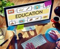 Concepto de la educación de la instrucción del estudio de la enseñanza de la escuela imagenes de archivo