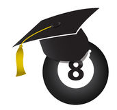 Concepto de la educación de los billares Imagen de archivo libre de regalías