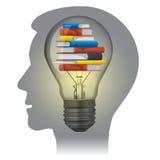 Concepto de la educación de los libros de texto Imagen de archivo